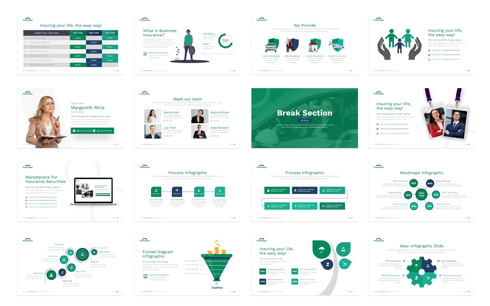Protextial Insurance Presentation PowerPoint Template