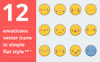 Emotions vector icons set vol.1 Iconset Template Big Screenshot