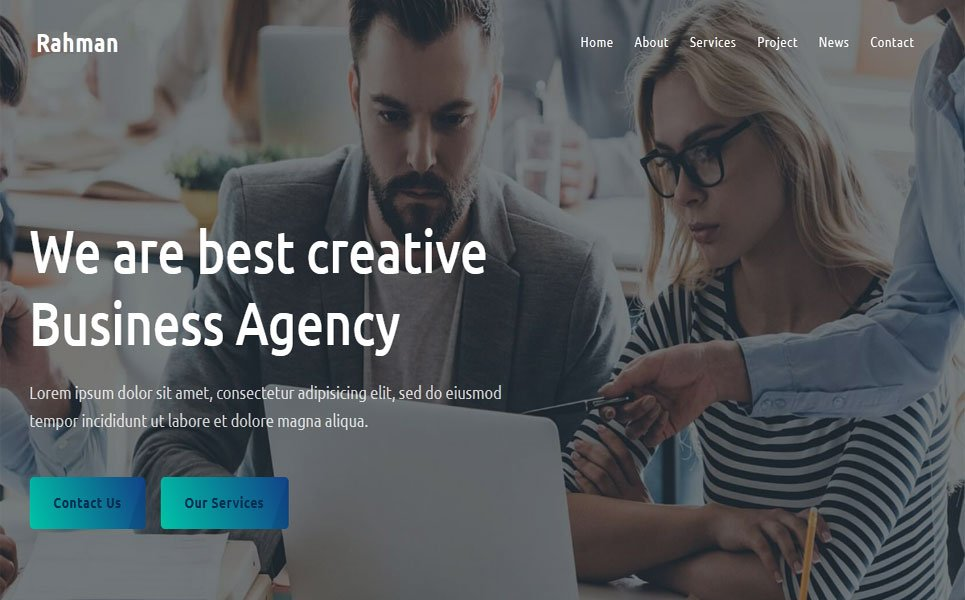 Rahman - Agency Landing Page Template