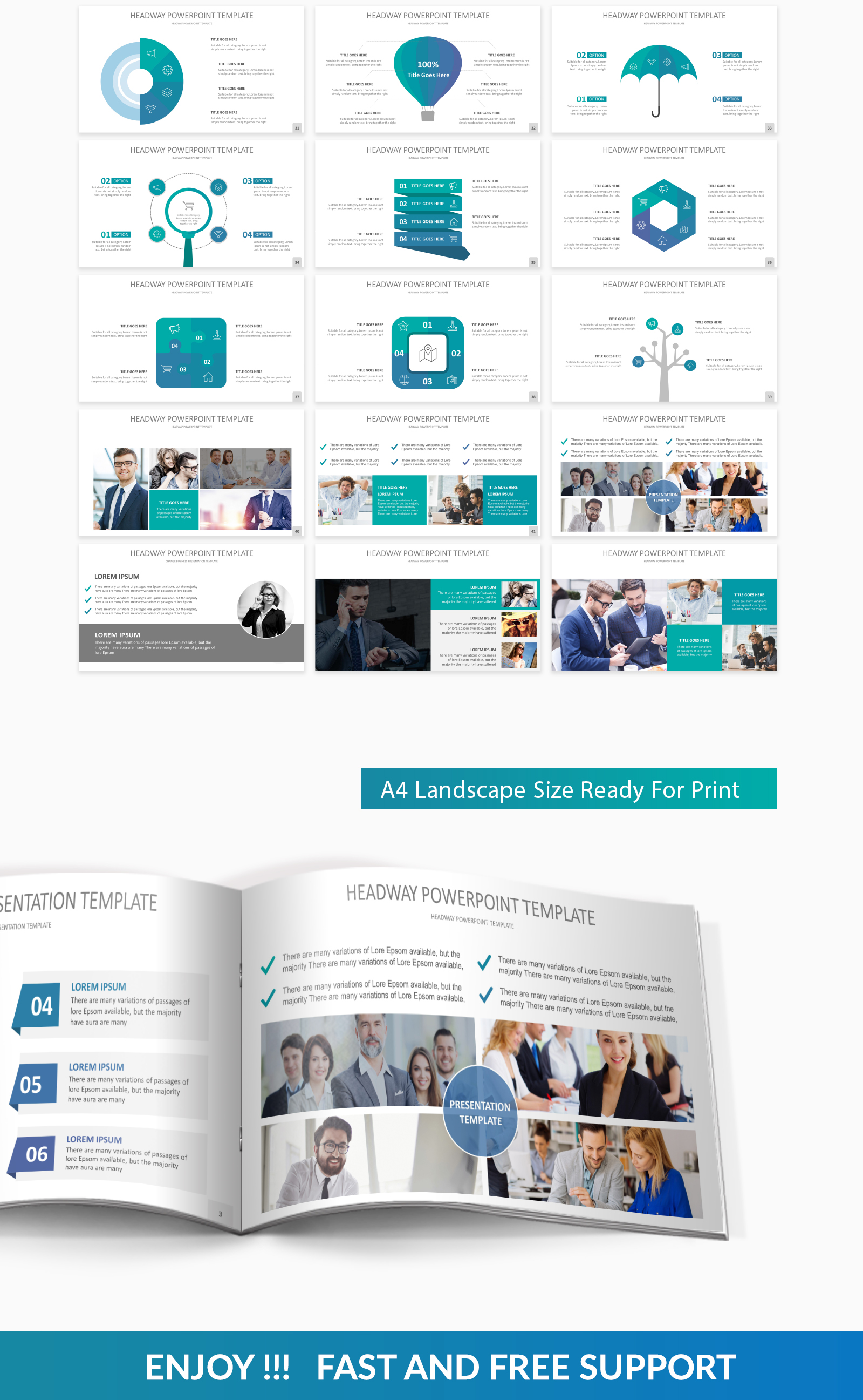 Headway PowerPoint Template