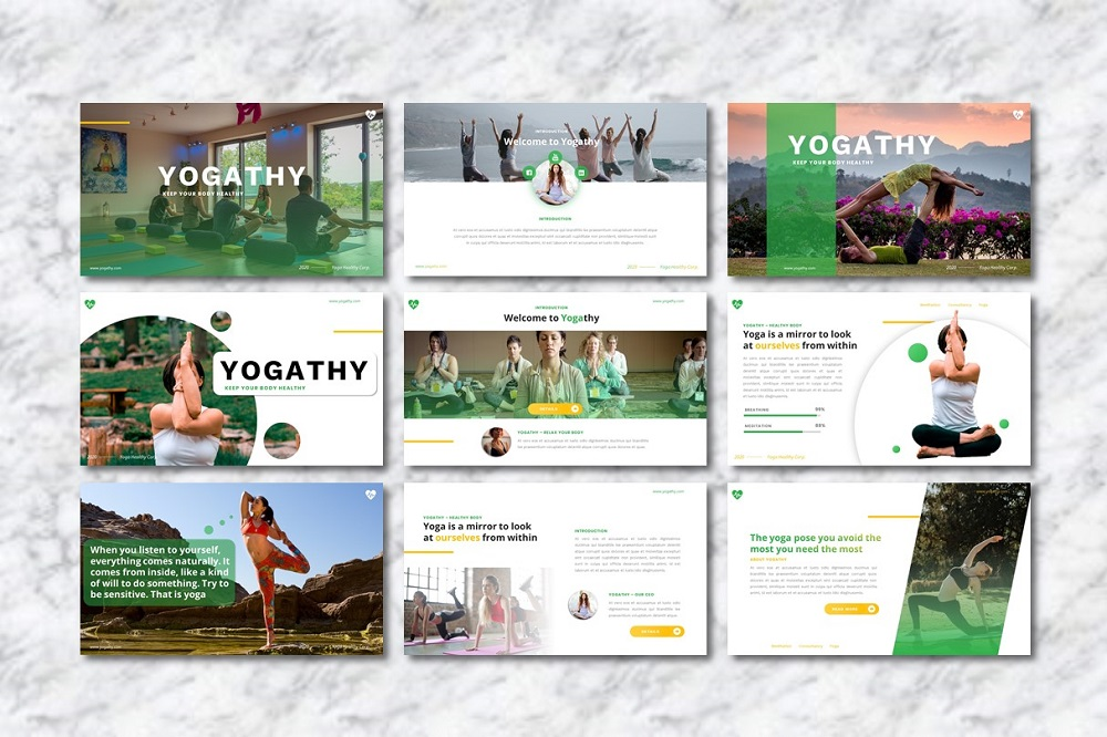 Yogathy - Yoga  Presentation PowerPoint Template