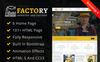 """Factory : Factory & Industrial HTML"" Responsive Website template Groot  Screenshot"