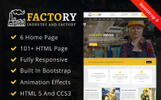 """Factory : Factory & Industrial HTML"" Responsive Website template"