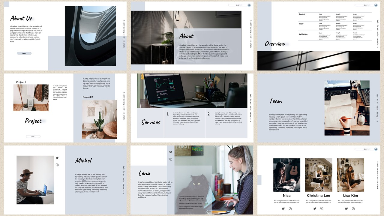 Sabi – Creative Business PowerPoint Template