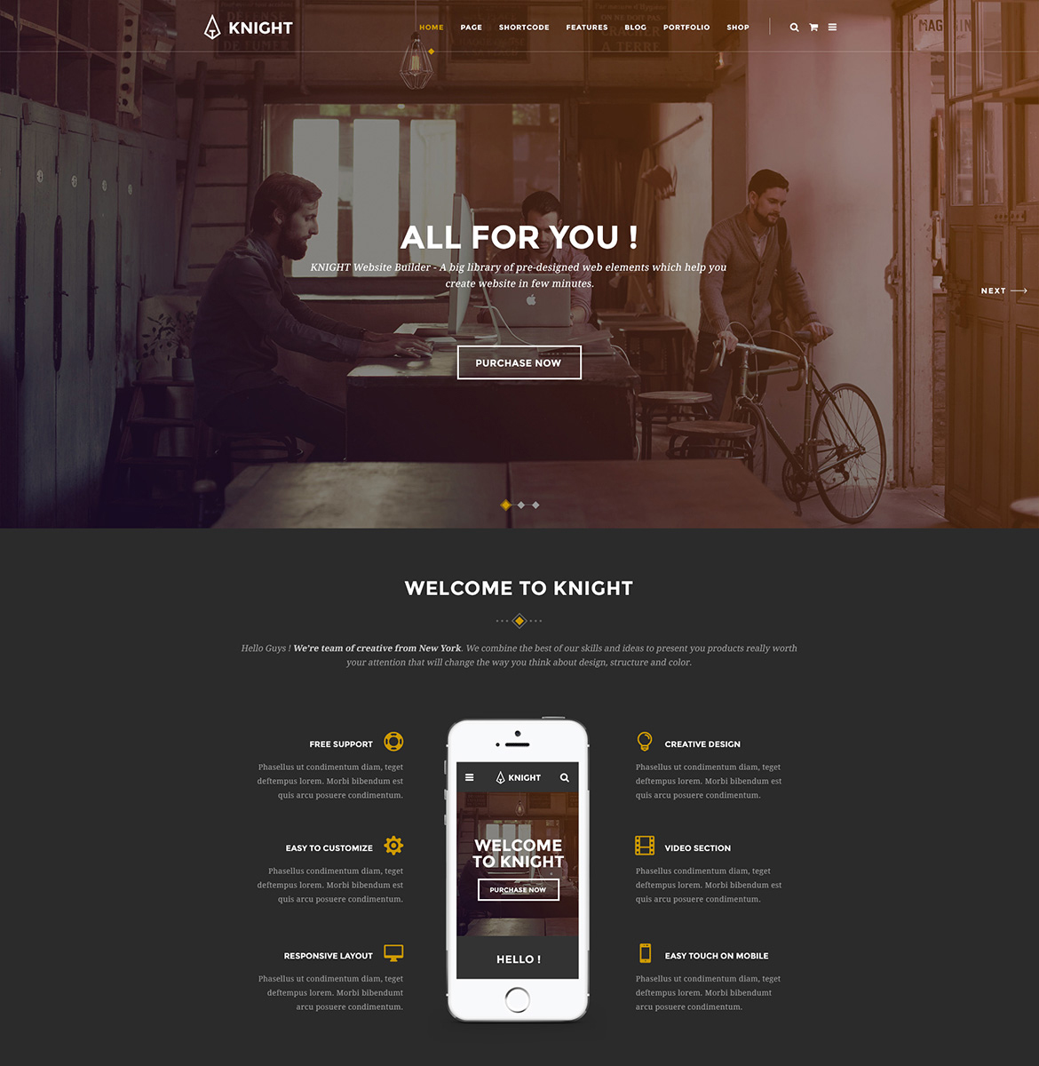 Knight corporate and shop psd template 64843 zoom in toneelgroepblik Choice Image