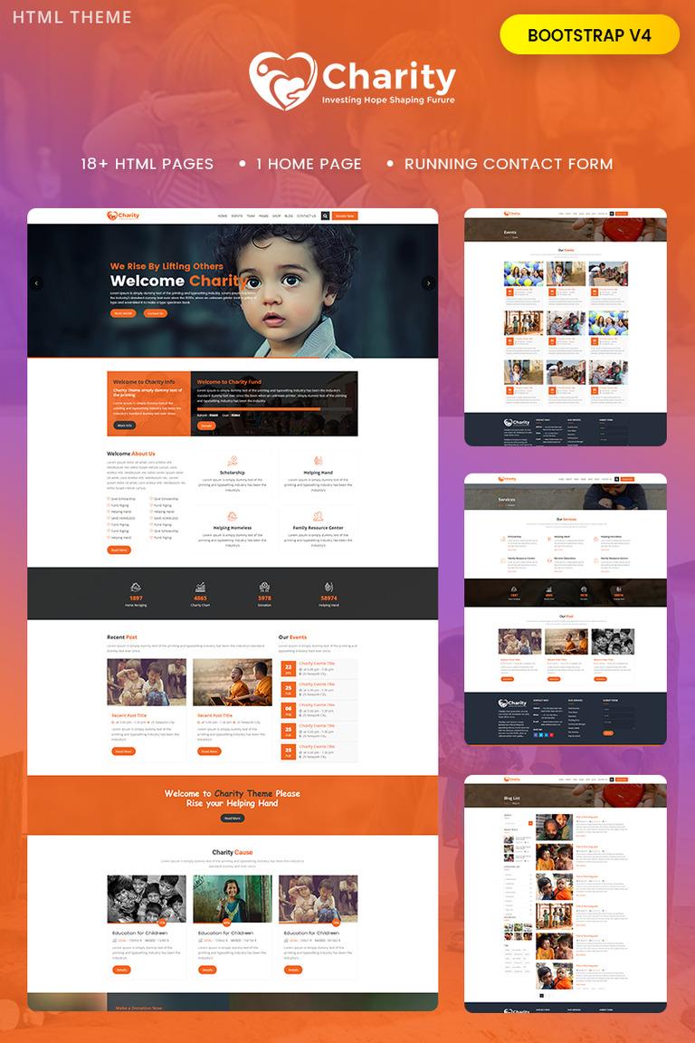 b6f04b53173e Template Siti Web  68962 per Un Sito di Beneficenza per Bambini