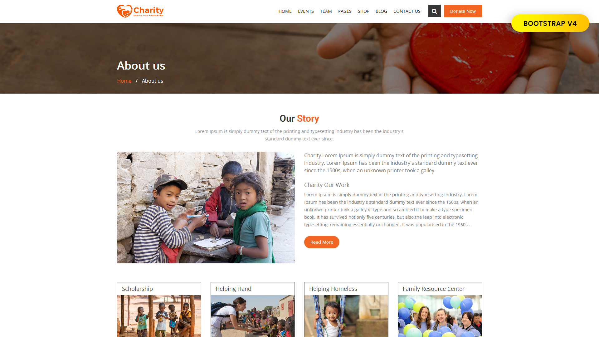 non profit website template big screenshot zoom in live demo