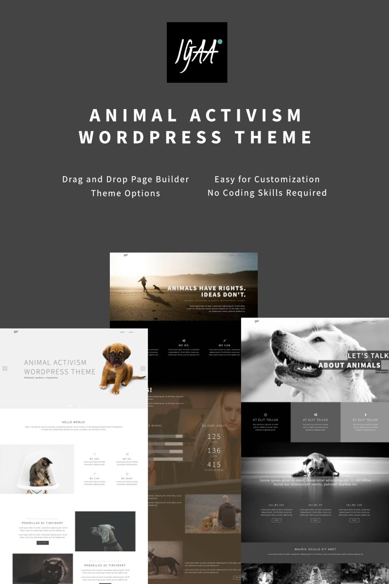 Адаптивный шаблон сайта на тему животные #64875