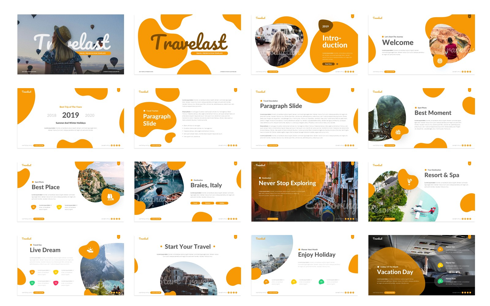 Travelast – Holiday Presentation PowerPoint Template