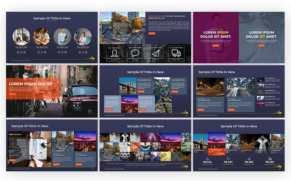 urban planning presentation powerpoint template  69311
