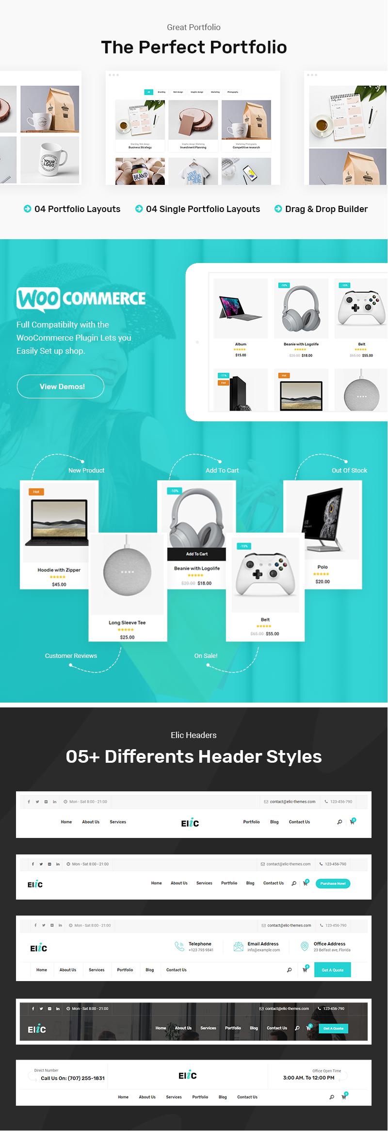 Elic - Creative Multi-Purpose WordPress Theme