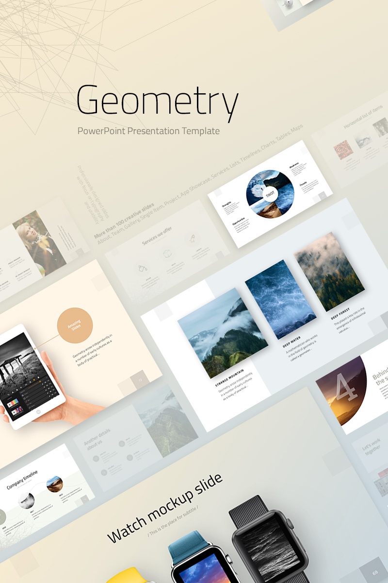 geometry powerpoint template 74239