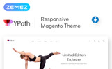 "Template Magento Responsive #68956 ""YPath - AMP Yoga Store"""