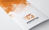 Konceptex K Pixel Letter Logo Template
