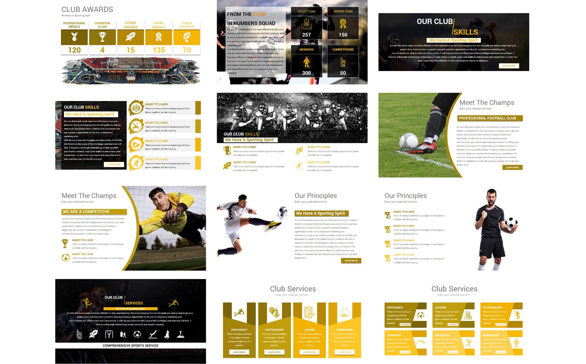 Template powerpoint para sites de esporte 69074 mais zoom toneelgroepblik Images