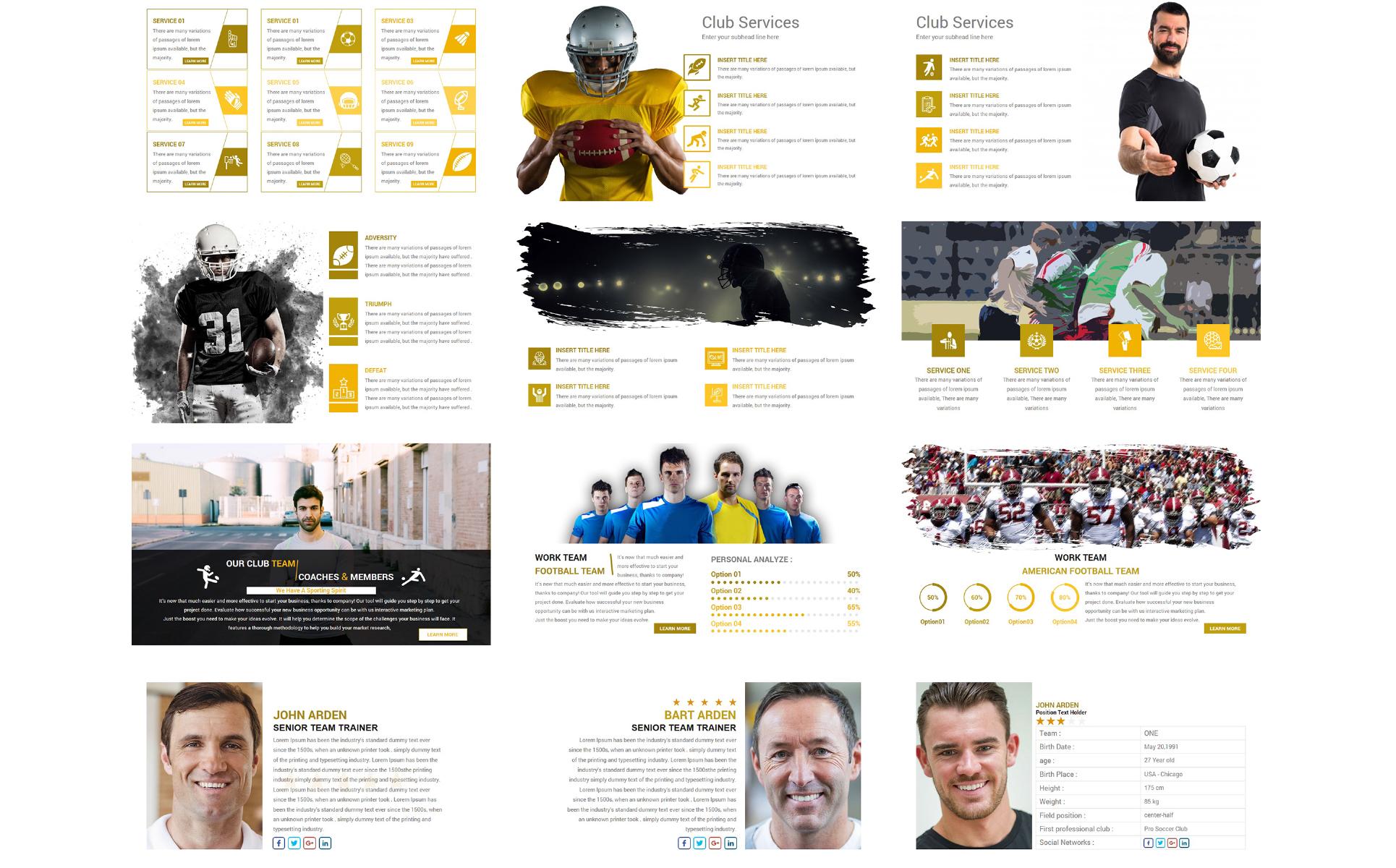 Großzügig Sport Powerpoint Vorlage Bilder - Beispiel Business ...