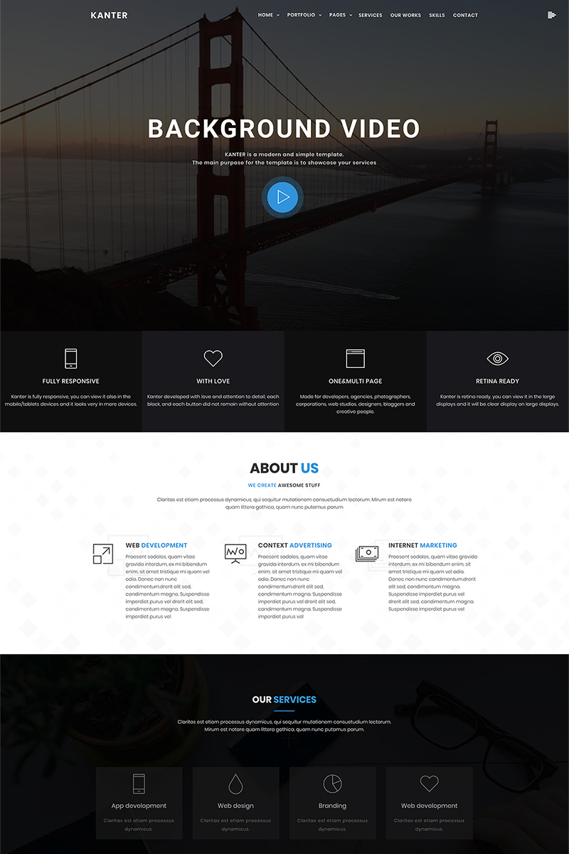 Адаптивный шаблон №69402 на тему дизайн и фотография, дизайн, портфолио дизайнера
