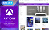 "Tema Magento Responsive #65949 ""Articon - Art Gallery Store"" Screenshot grande"