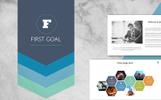 """First Goal"" Premium PowerPoint Template"
