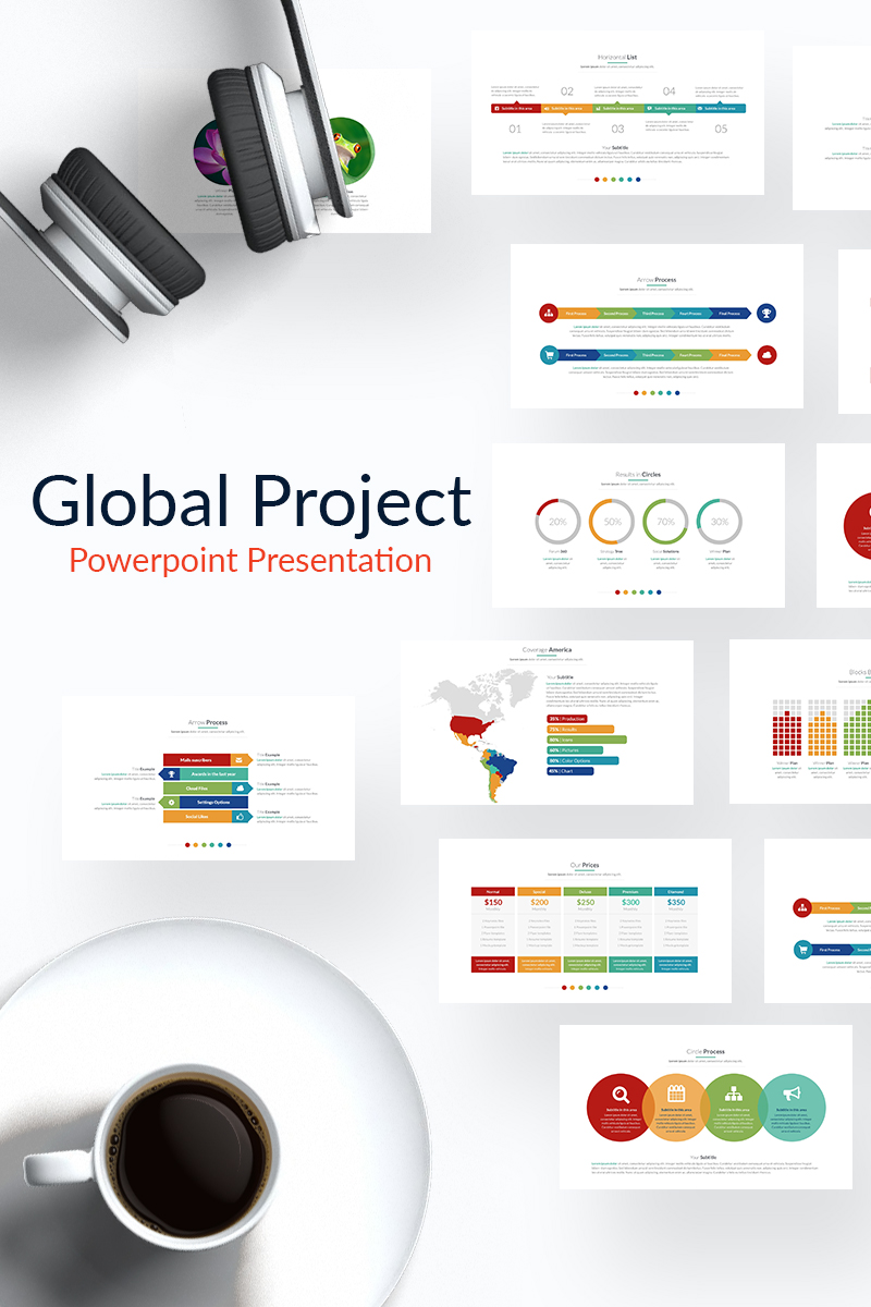 Global Project Powerpoint Template 65162