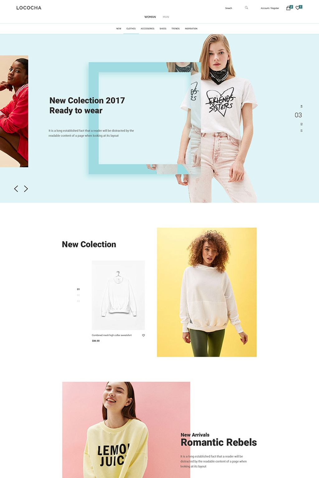 Lococha Fashion And Store Psd Template 64953