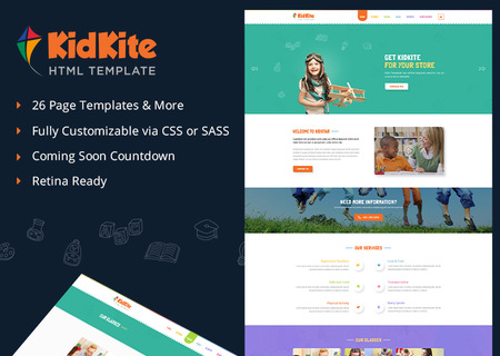 School Daycare for Kids & Children Ecommerce