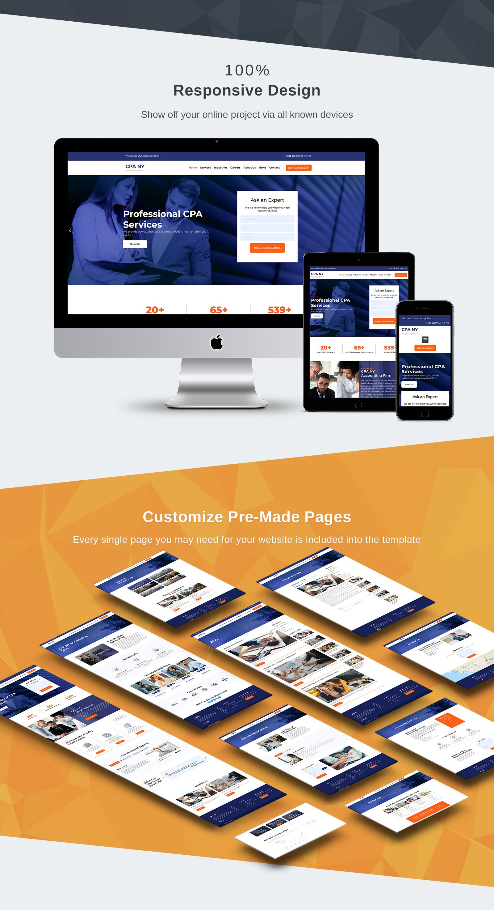 CPA NY - Accounting Firm Moto CMS 3 Template