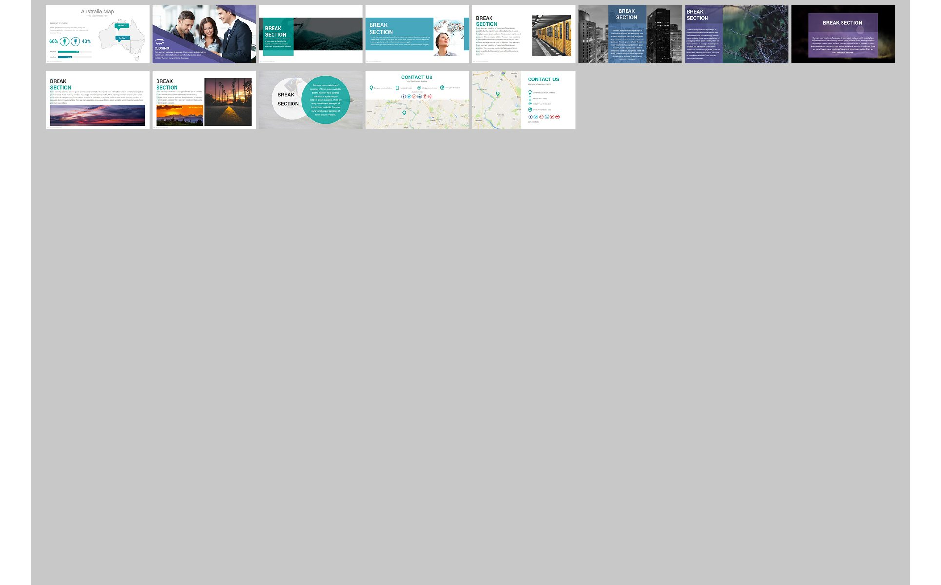 Zagros Powerpoint Template 68714