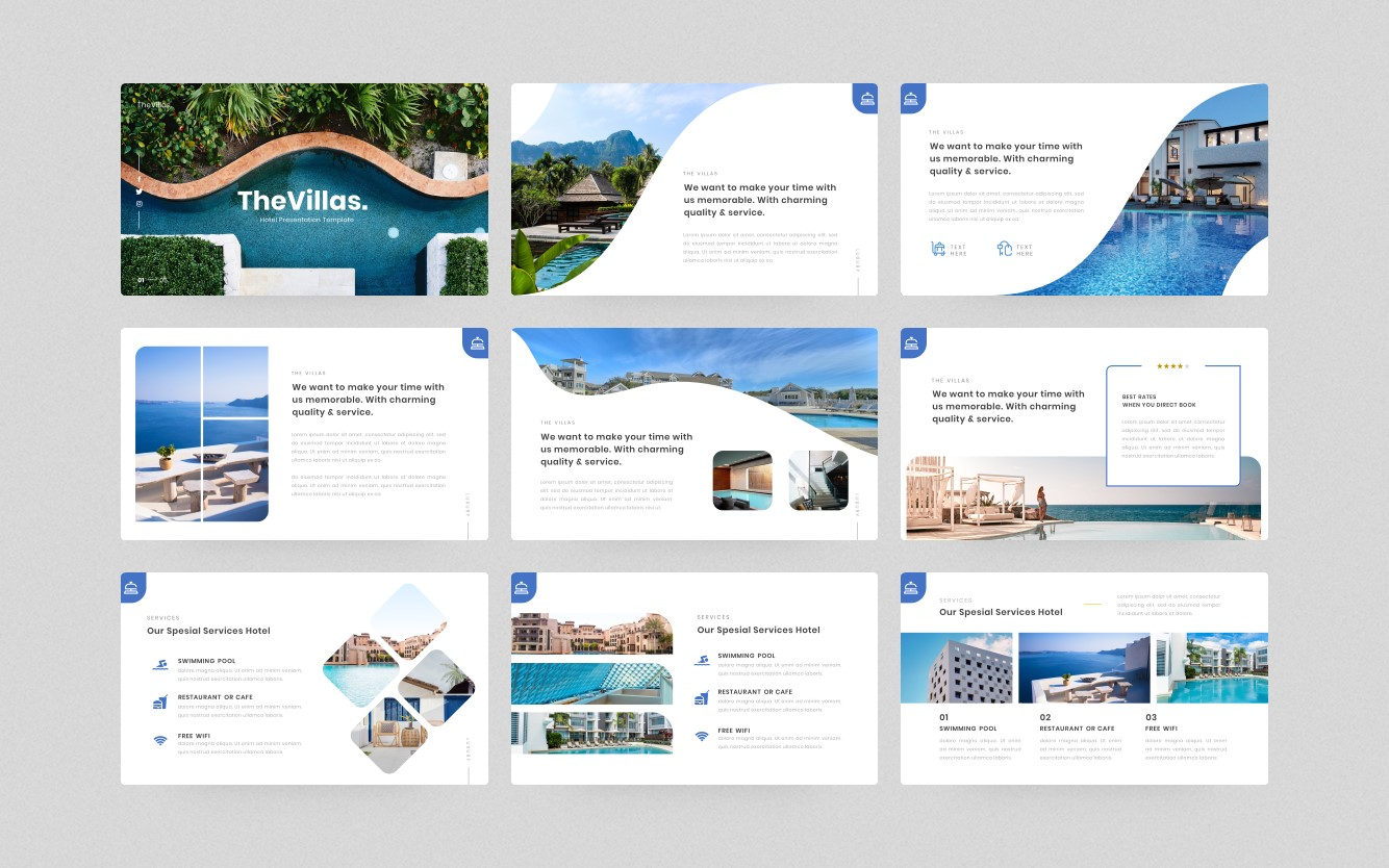 TheVillas-Hotel Presentation PowerPoint Template