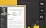 Maximilian Baumgartner - Graphic Designer Resume Template