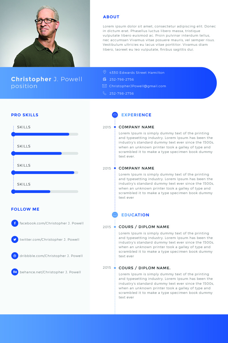40 best 2019 u0026 39 s creative resume  cv templates