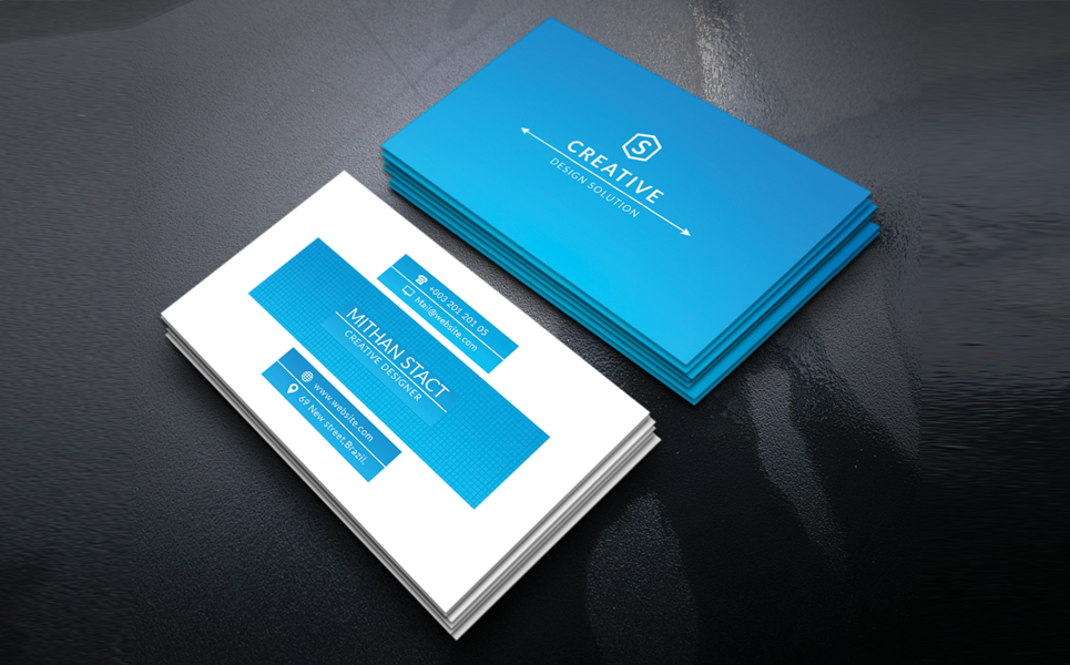 Mithan Stact Personal Business Card Corporate Identity Template #69466