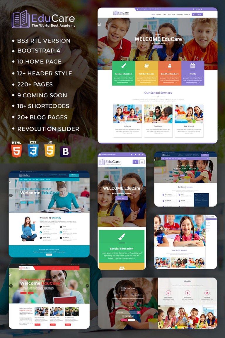 Educare Education With Rtl Ready Website Template Screenshot
