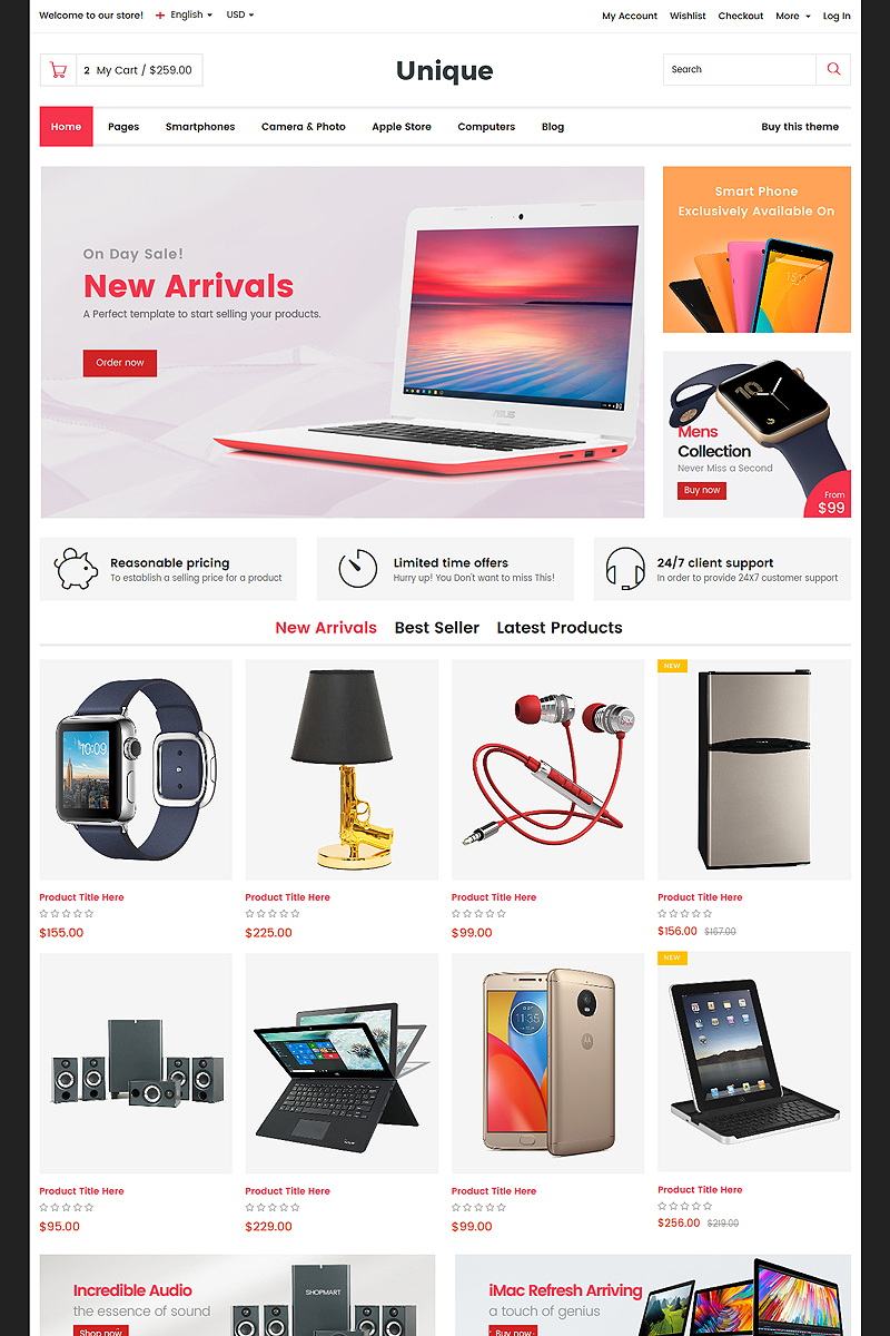 electronic website templates