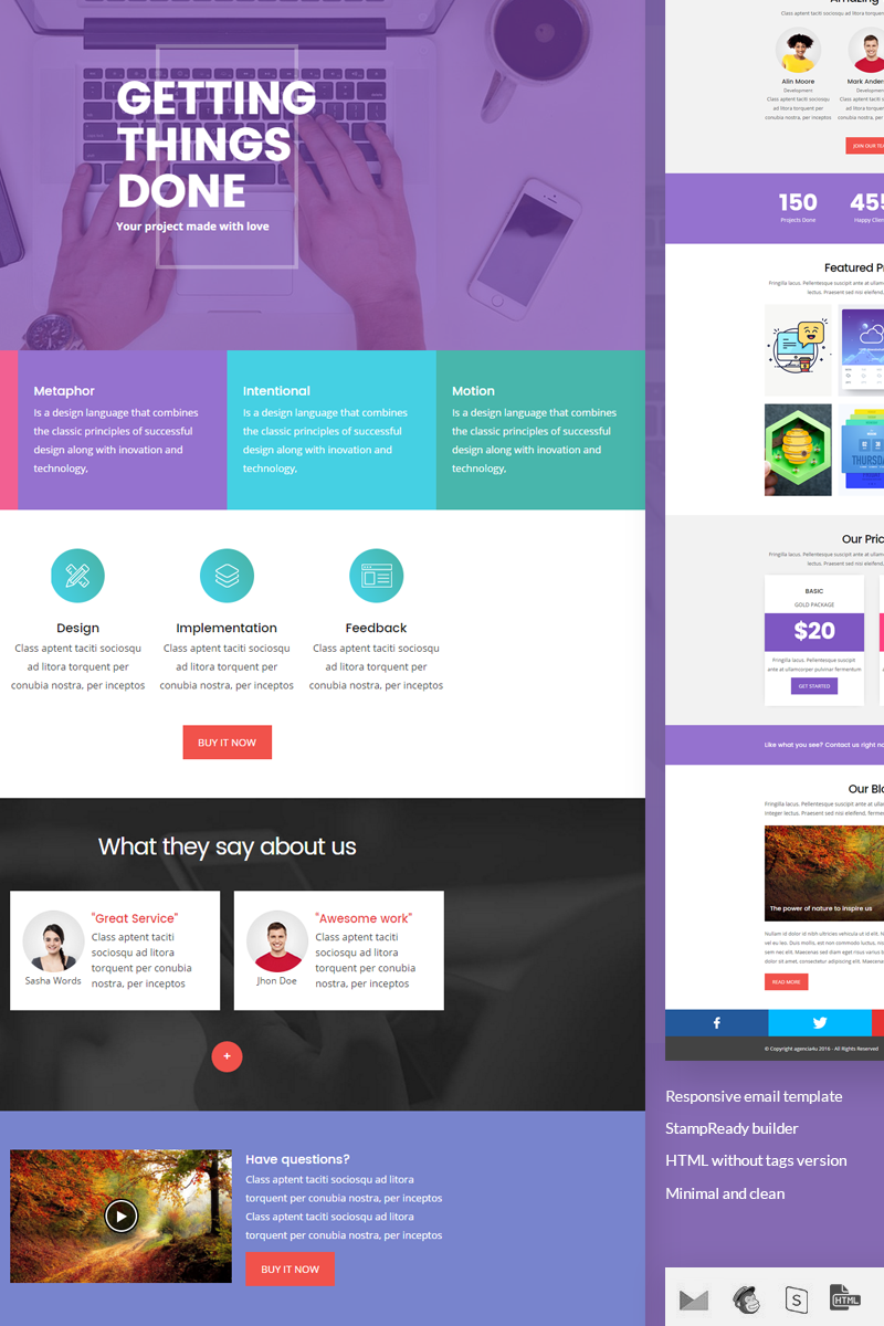 wave stampready builder responsive newsletter template 64989