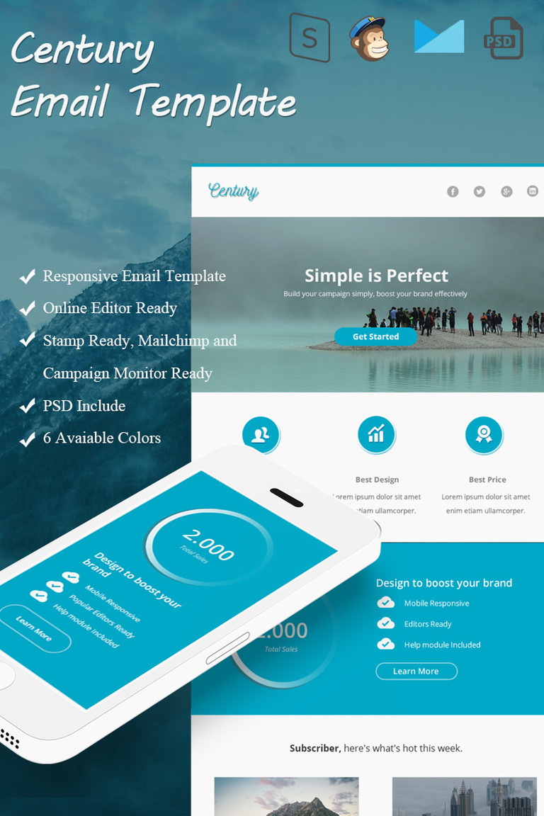 Century Email Newsletter Template - Weekly email newsletter template
