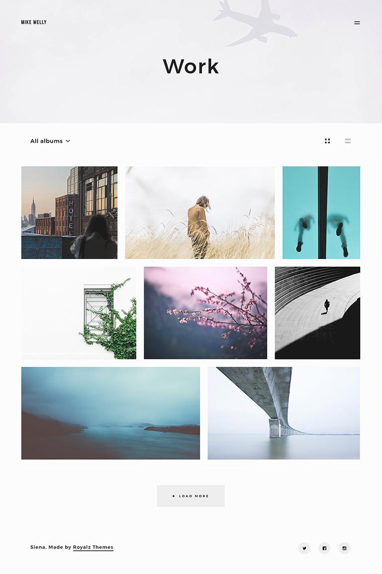 Siena - Aesthetic Photography Portfolio WordPress Theme Big Screenshot