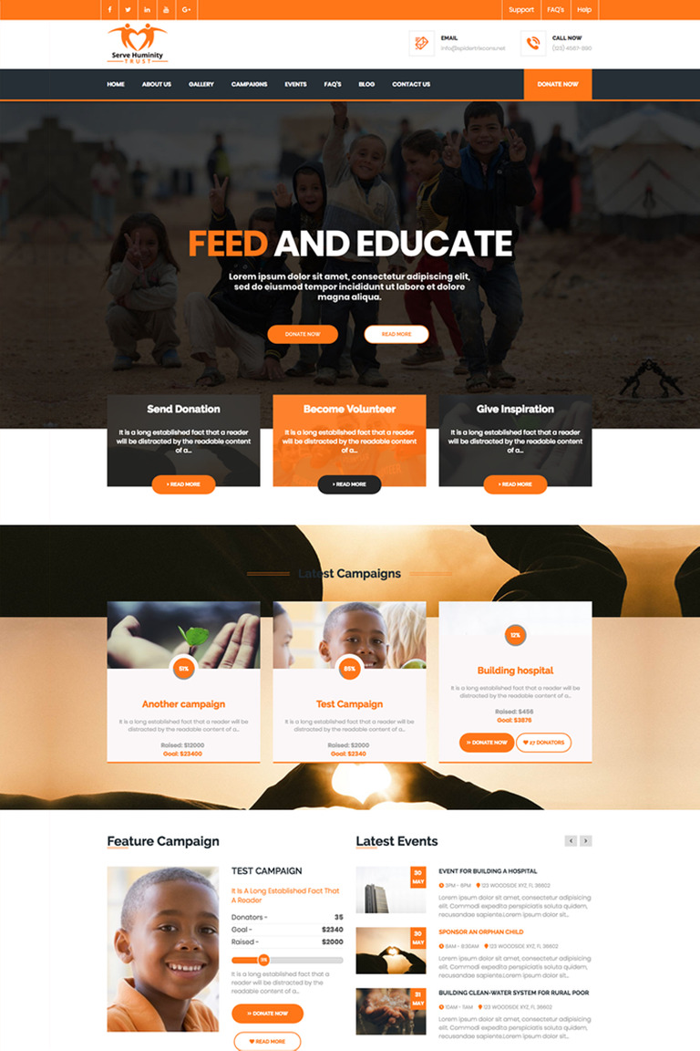 et charity free responsive charity joomla templates.html