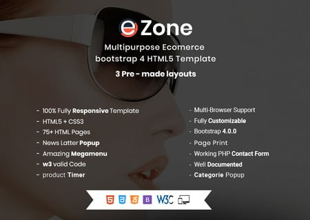Ezone- Responsive Multipurpose E-Commerce