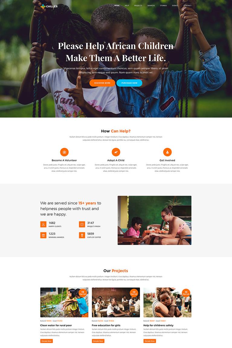 Chiller - Charity/Fundraising WordPress Theme New Screenshots BIG