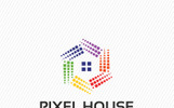 Pixel House Logo Template