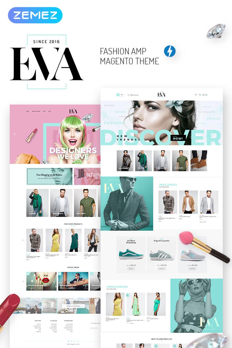 Eva Amp Fashion Store Magento Theme 69471