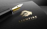 Lion Fire Logo Template